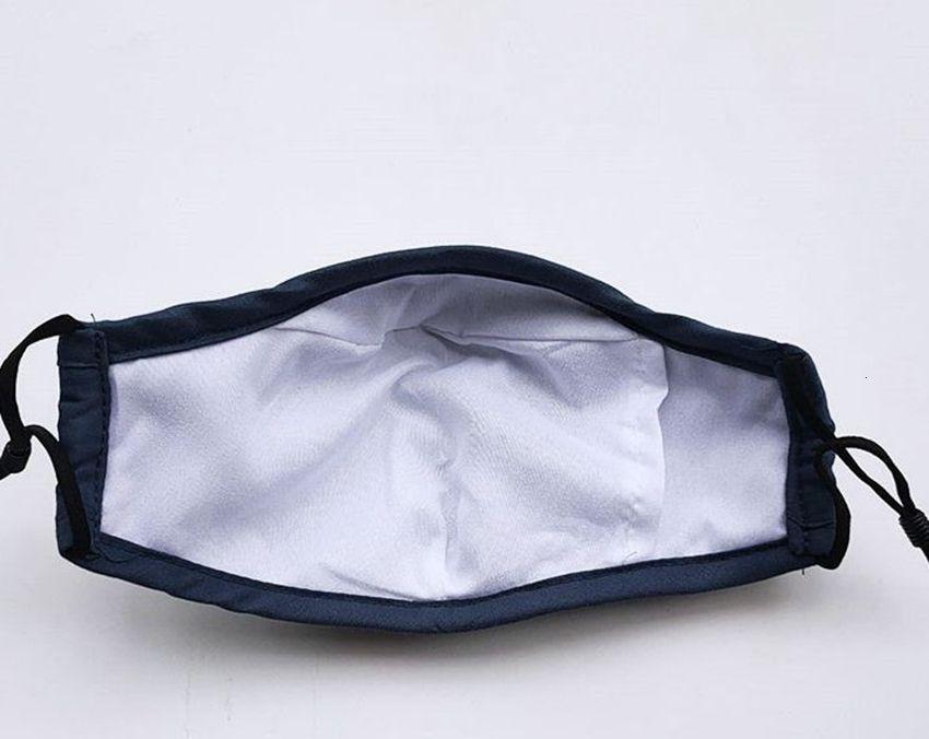 Маска для лица дыхательный клапан может использовать PM2.5 фильтрующий прокладки многократный хлопок моющийся дыхательный клапан маска рта 6 цветов LJ