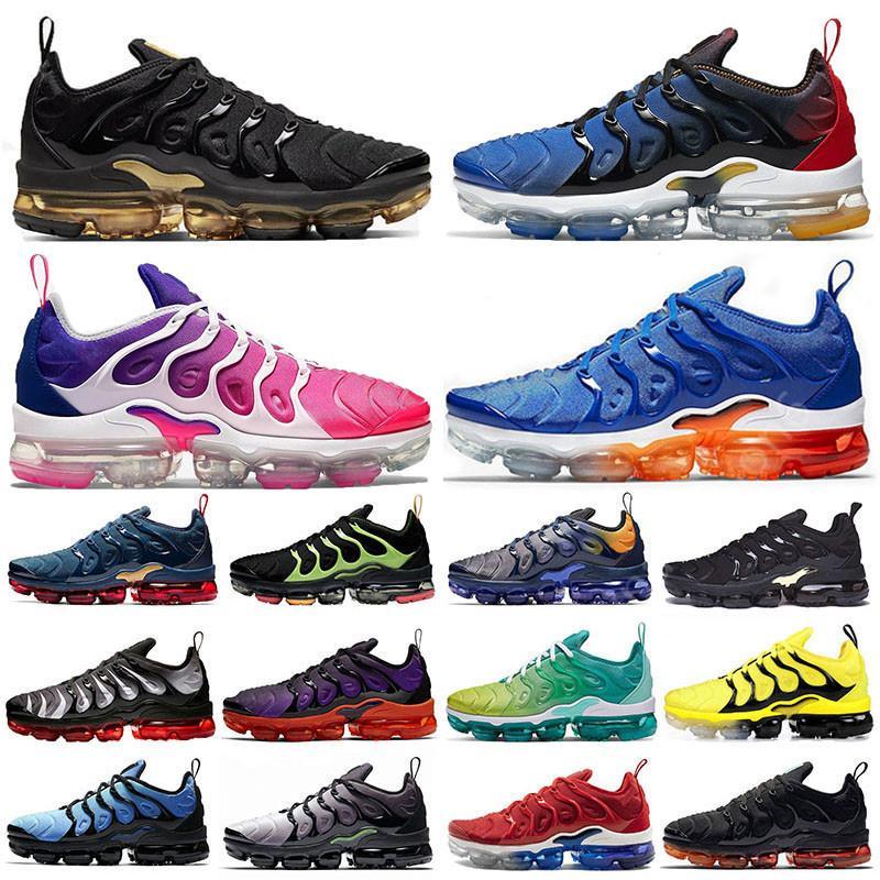 Top Fashion TN plus BIG TAILLE 13 Pink Metallic Gold chaussures de course Violet Hyper Violet Lemon Lime VOLT Hommes Femmes entraîneurs de sport chaussures de sport