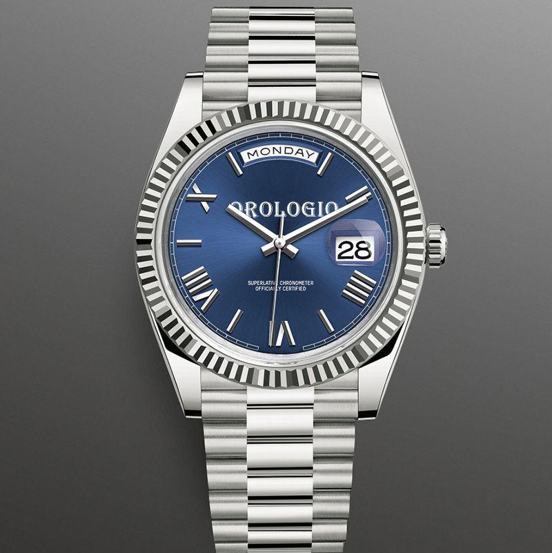 Montre de Luxe Erkek Saatler 41mm Otomatik Hareketi Tam Paslanmaz Çelik Saatler 2813 Mekanik Saatı Su Geçirmez Aydınlık U1 Fabrika