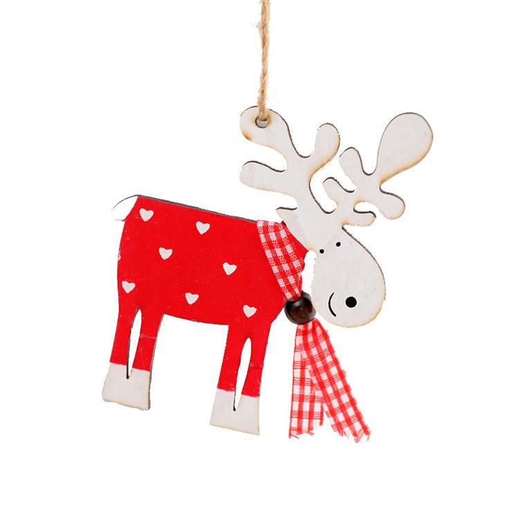Kingwillow mano Natale Decorazione Laser Engraving modelli animali di legno appeso decorazione personalizzata