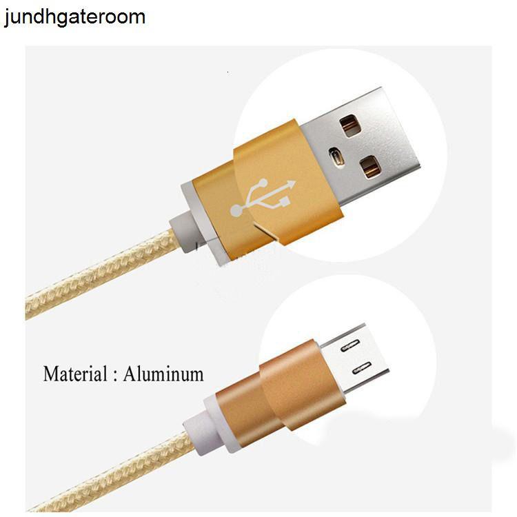 Tipo de impuesto 2.1A trenza de metal CABLE DE DATOS DE DATOS MICRO USB PEAGE USB PEAL 1M 2M 3M PARA HUAWEI SAM SUNG S 5 6 7 8 Y