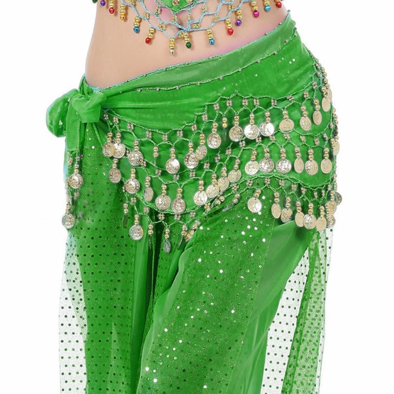 1pc Kadınlar Seksi Belly Dance Hip Eşarp Wrap Kemer Dansöz Etek Kostüm şifon Dansçı Etek Kadınlar Aksesuarlar Dancing 3 Satırlar