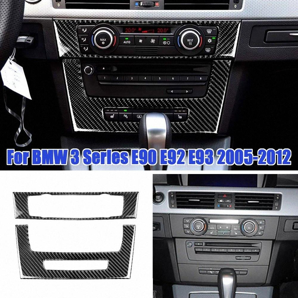 Codernes de voiture Climatisation CD Panneau CD Couvercle décoratif Trim Auto Intérieur Accessoires Autocollant pour E90 E92 E93 3 Série Yjwa #