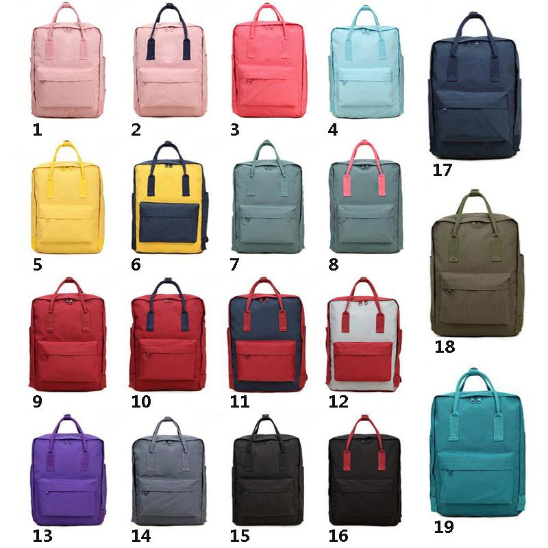 Top Seller marca 19colors Colorful Sport Outdoor Packs casual Zaino per ragazzi adolescenti femmine Coppia Schoolbag Zaini 3sizes 7L 16L 20