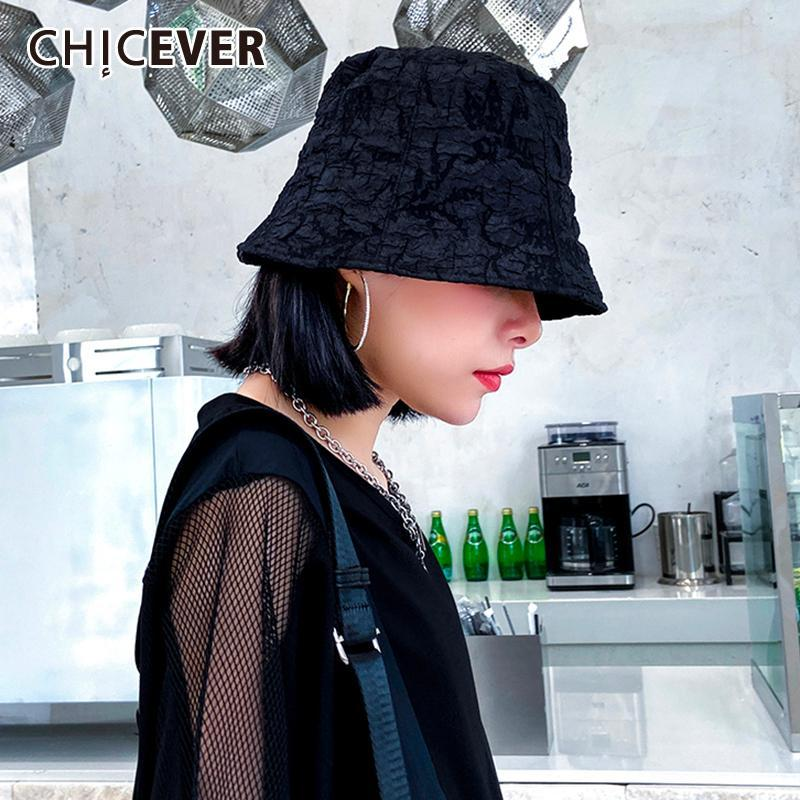 di CHICEVER Women Size casual Secchio Cappelli Protezione solare Abbigliamento Accessori liberi del cappello di Sun estate femminile coreana Moda 2020 Nuovo