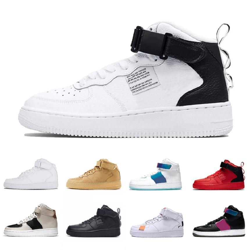 حذاء رياضي Air Force 1 af1 2021 Dunk Utility OG للأزياء الراقية للرجال والنساء حذاء للجري باللون الأحمر فقط يتمتع بلعبة جيدة أحذية رياضية رياضية ثلاثية باللون الأسود والأبيض