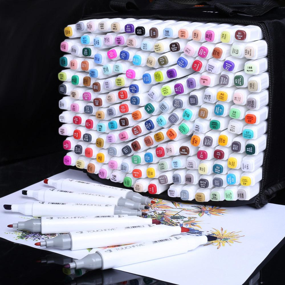 Marcadores Profesionales 168 Pen Color Pen Alcoholic Bely Based Tinta Marcadores Marcadores Plumones Para Colorear Dibujo Manga 201222