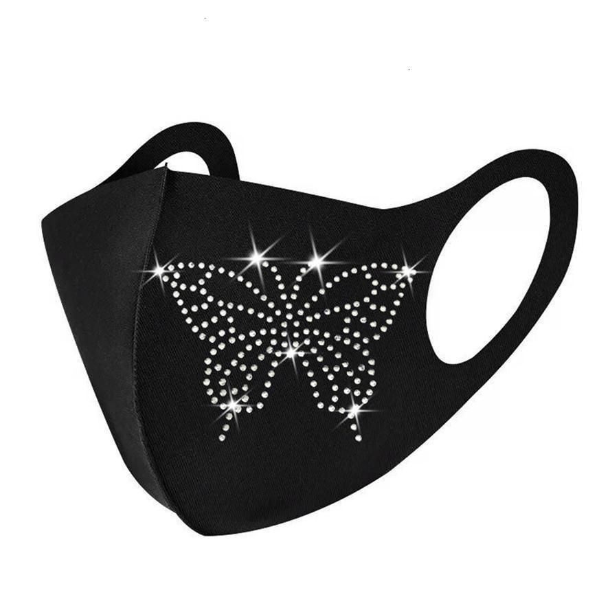 FactoryFactoyFace Mask Designer MasksDustupável Homens Mulheres Pendurado Ear Orelha Primavera e Verão Algodão embutido Diamond Glitter Chr 7 N3JL0