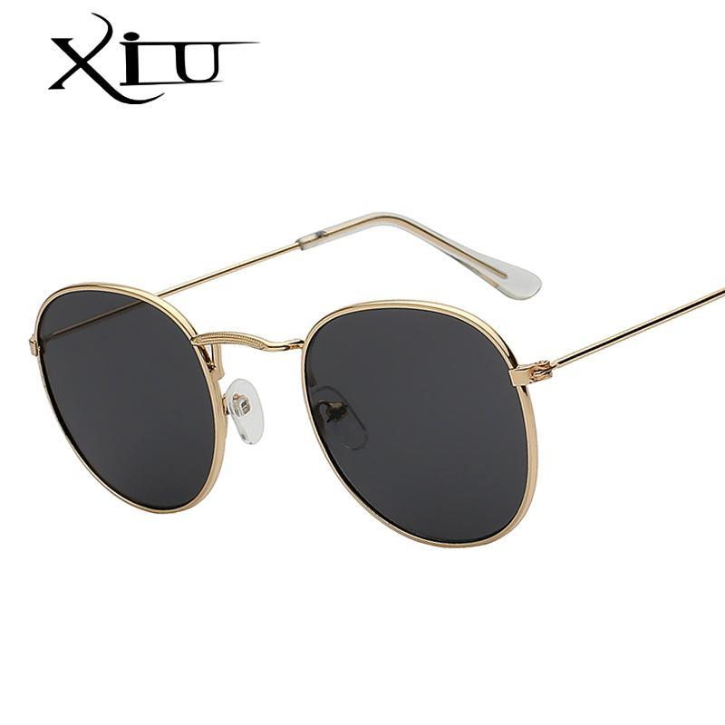 XIU Oval Brand Hot Shades Sale Men Glasses Retro Women Vintage Designer Metal Sunglasses Sunglass UV400 Cvkkw