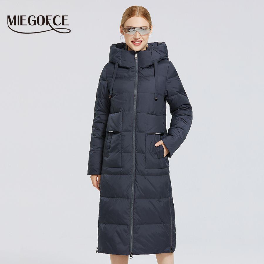 MIEGOFCE Yeni Kadın Kış Koleksiyonu Coat Kadınlar Ceket Ve Parka Basit Sıcak Kış Elbise Windproof Ceket 200928