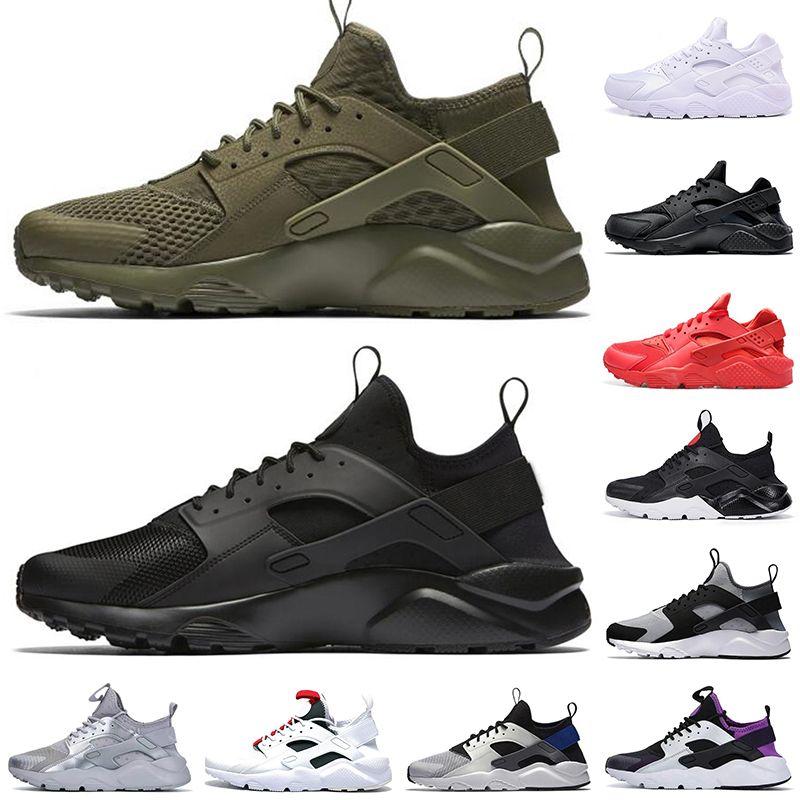 حذاء الجري huarache للرجال والنساء حذاء ثلاثي أبيض أسود أحمر رمادي زيتوني هواراتشيس حذاء رياضي للرجال للمشي والركض 36-45