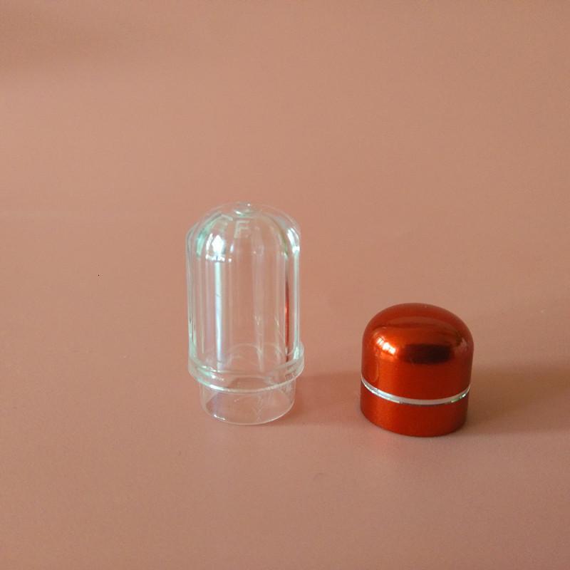 Симпатичные капсулы раковины круглые прозрачные таблетки мини-корпус пластиковые погрешные бутылки с алюминиевой крышкой медицинские изделия контейнер