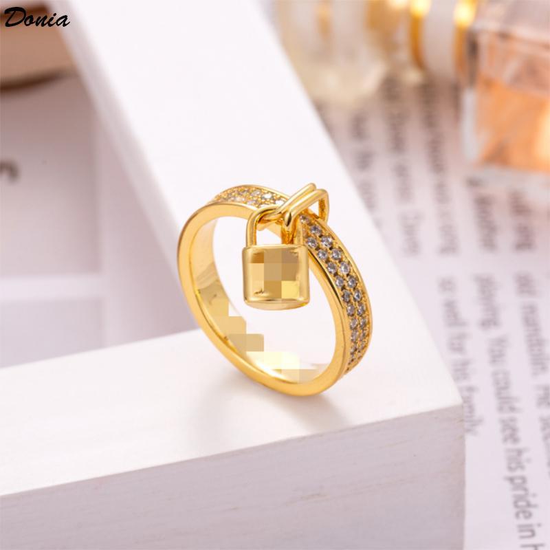 gioielli Donia europea e popolare Designer esagerata blocco amore micro intarsiato zircone anello regali fatti a mano americani anello
