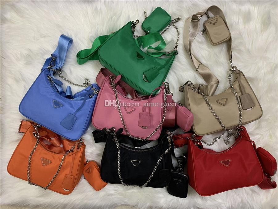 Sıcak Satış 7 Renkler 2005 Üç Parça Set Kadın Çanta Yeni Stil Naylon Rahat Çanta Moda Kadın Haberci Omuz Çantaları Bayanlar Çapraz Vücut C