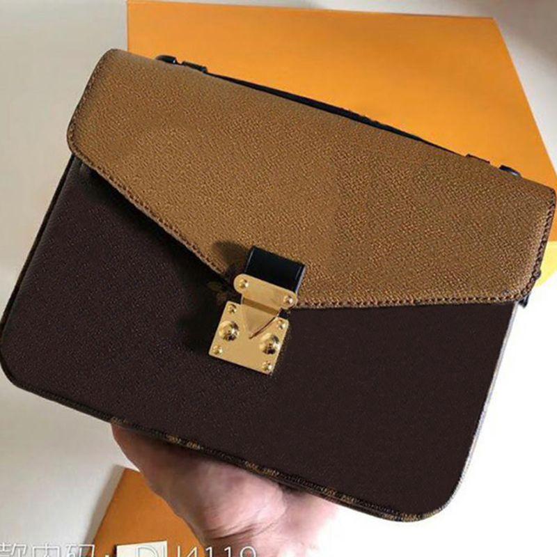 Top-Qualität Komplettes Auswahl an Styles. METIS One-Umhängetasche Leder Handtasche Mode Geldbörse Crossboby Bag Metallverschluss Deckel