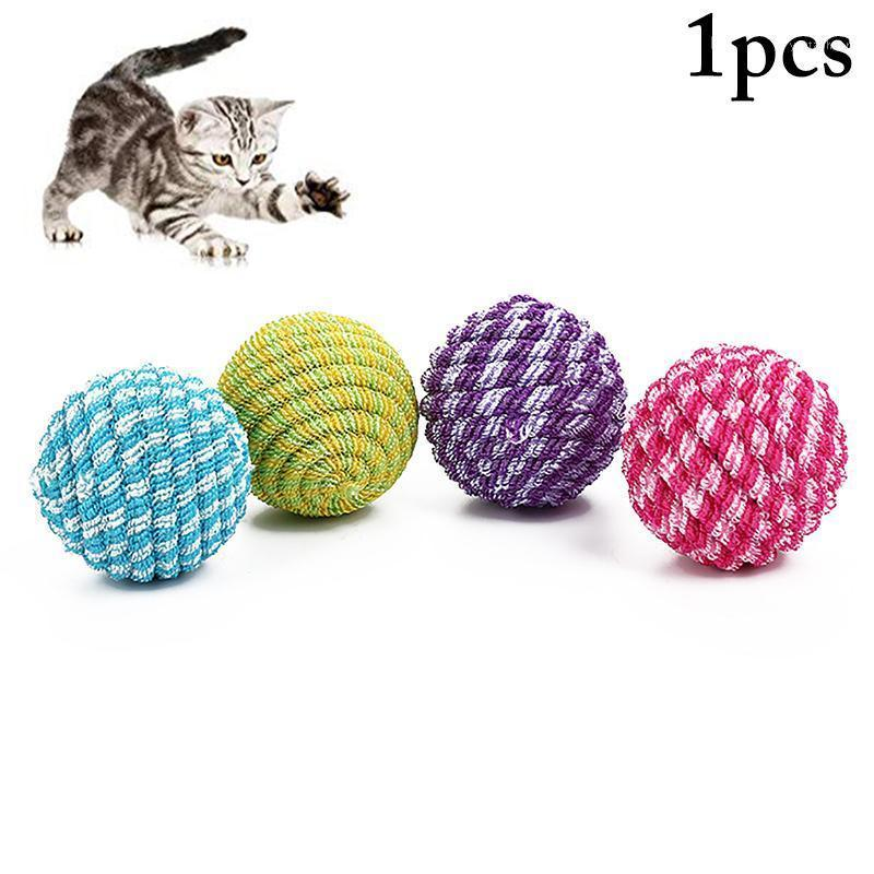 Bola de brinquedo de animal de estimação bola elástico resistente à mordida engraçado gatinho bola brinquedo gato interativo para gatos gatinho pet suprimentos1
