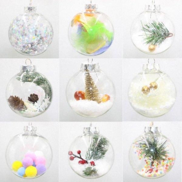 Bolas de Navidad Percha Chucherías del árbol de Navidad casera colgante de la fiesta del ornamento Decoración Nueva VTiZ #