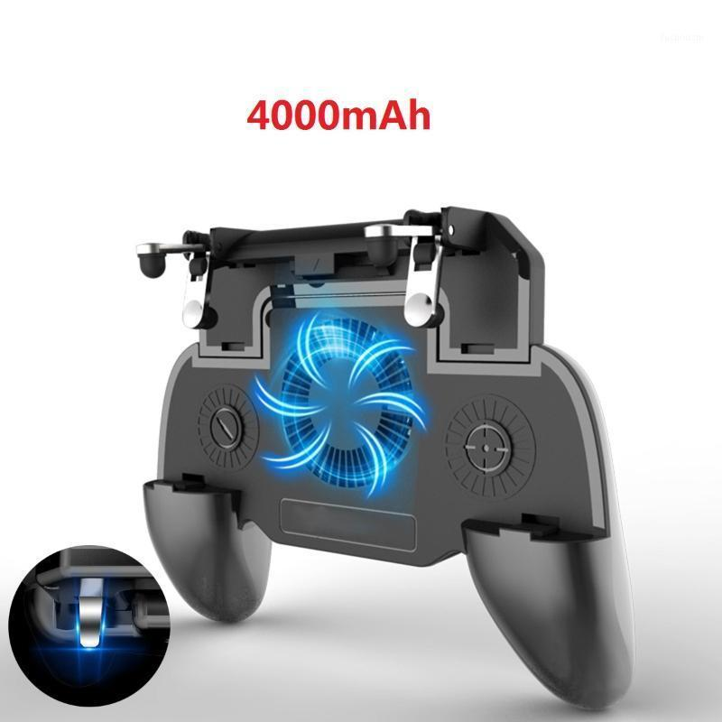 Mobile GamePad For PUBG Cooling Fan L1 R1 Shooter Controller Handle Joystick Trigger with 2000/4000mAh Power Bank for Phone1
