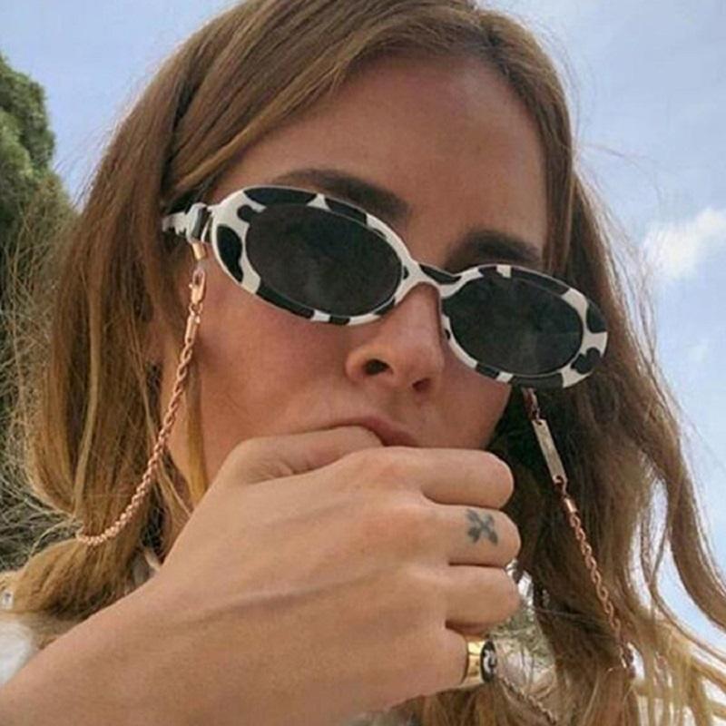 2020 Marco retro de la manera oval de mujer de marca de la vendimia Lentes de sol Mujer Sombras envío de la gota