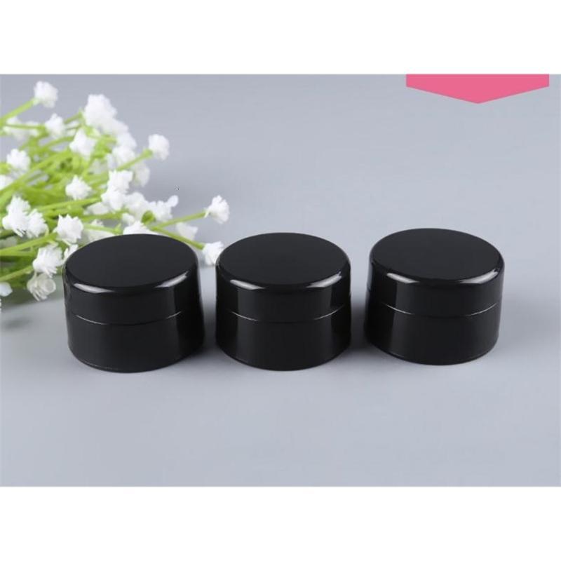 Crème en gros 1000pcs / lot 5g oeil biberon noire bouteille de plastique cosmétique maquillage pot uv-résistant sn2290