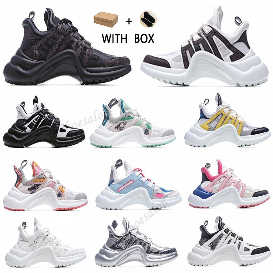 2021 جديد موضة عارضة كتلة archlight جلد طبيعي أبي حذاء رياضة أحذية شبكة الأسود تنفس الانحناء منصة شعبية ستايليس الأحذية # 52