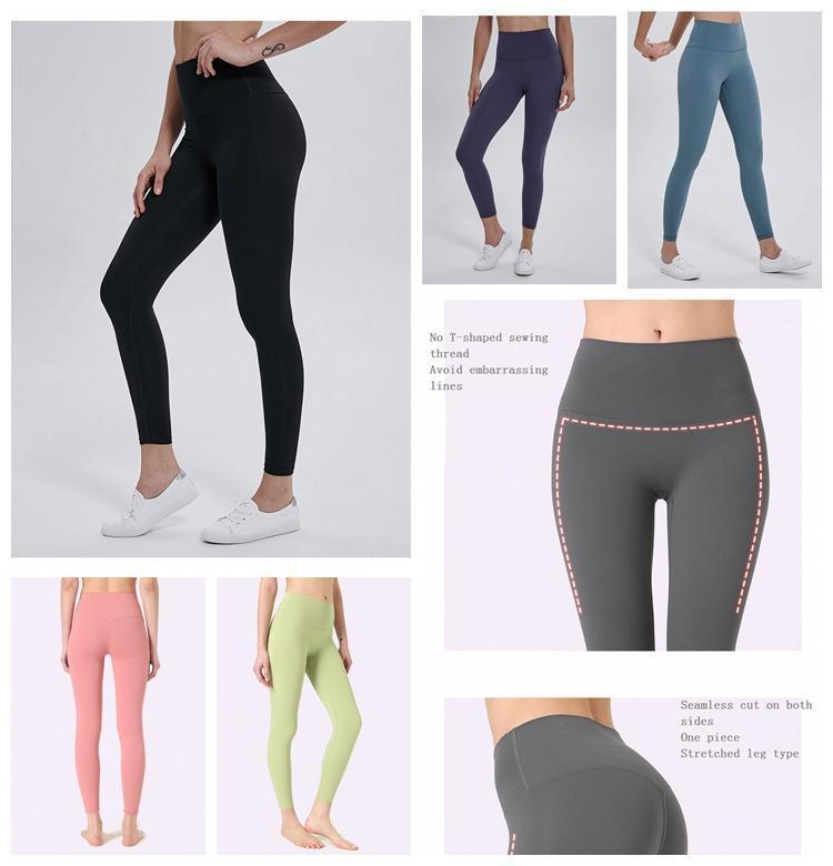 women leggings yoga pants designers womens gym wear lu icon 32 68 solid color sports elastic fitness lady overall align tights short 2 SWWS#