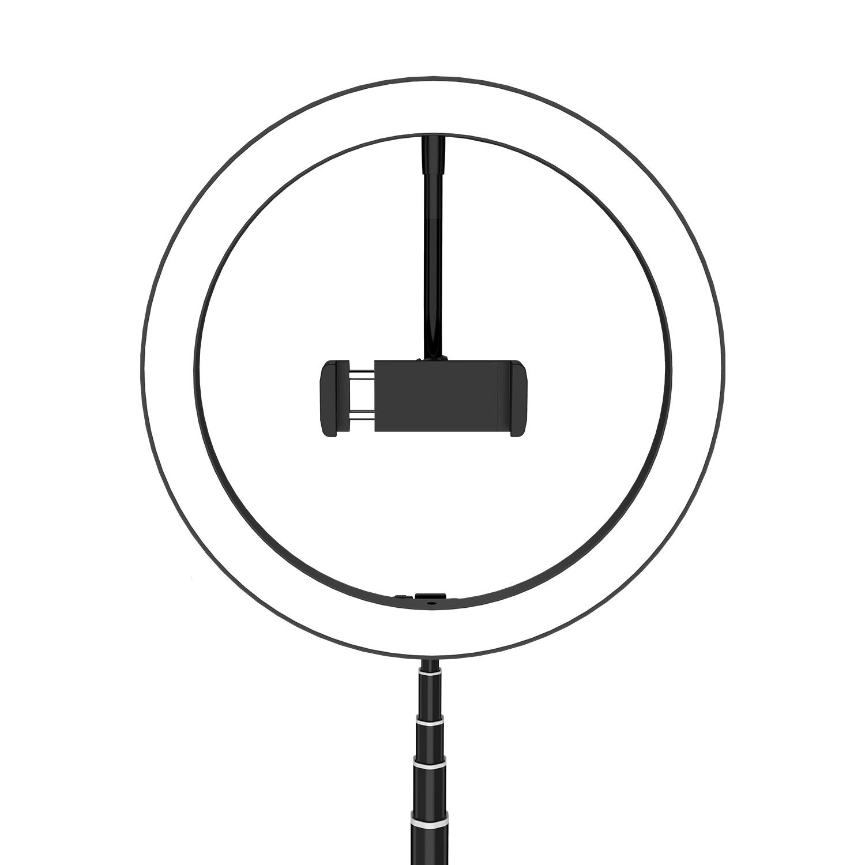 Anel de selfie portátil Mount Live Holder Light Light Video Transmissão de telefonia móvel