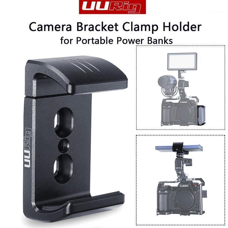 Aydınlatma Stüdyo Aksesuarları Uurig R010 Kamera Braket Kelepçe Tutucu Taşınabilir Güç Bankası için Cep Telefonu Alüminyum Uzatılabilir Klip 1/4 S