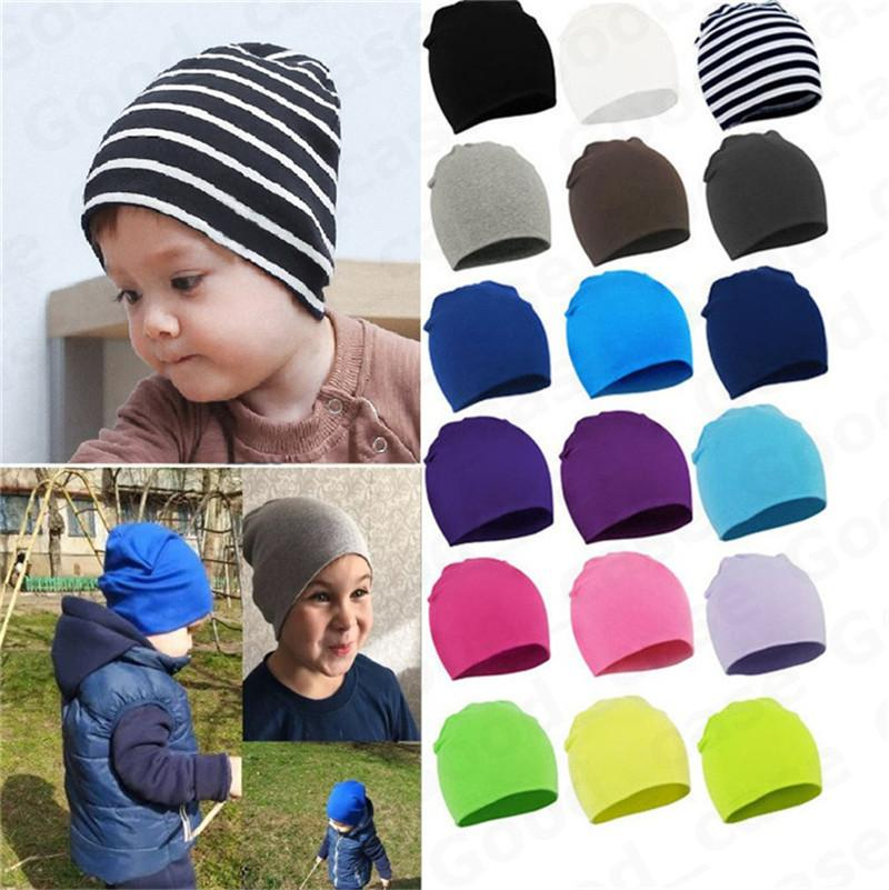 35 colors 1--3 Years Kids Baby Winter Hat Candy Beanies Skull Cap Warm Knitting Tuque Crochet Headdress Newborn Infants Toddlers Hat F101301
