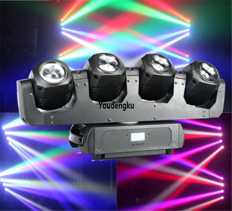2pcs led beam moving head lyre wash rgbw 4*32w 4in1 dmx led moving head beam light