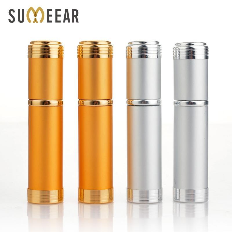 5 ملليلتر زجاجة العطور الزجاج الملمع الألومنيوم المحمولة مع البخاخ فارغة مستحضرات التجميل parfume vial للمسافر