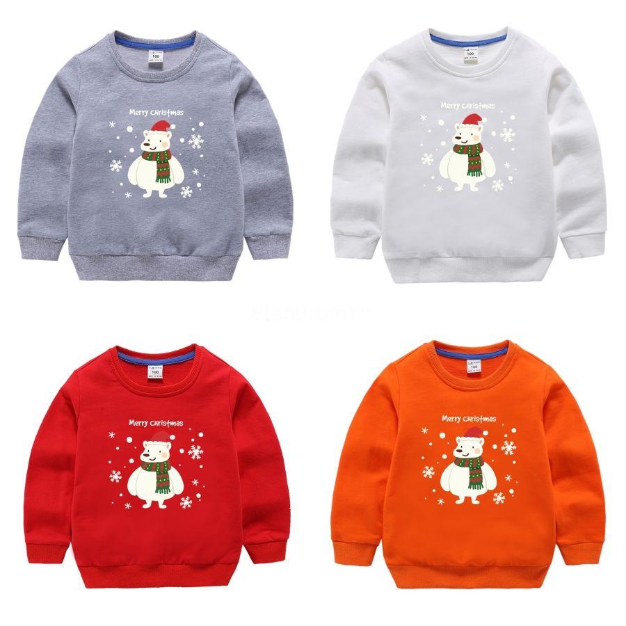 Knittwear Pull Childs Broderie Enfant de Noël Streetwear Pull oversize en vrac Hip Hop Pull # 183