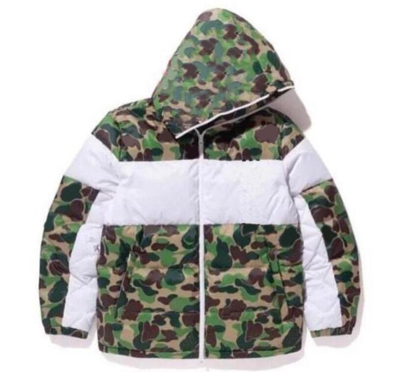 Kış Erkek Tasarım Ceket Moda Kamuflaj Aşağı Ceketler Ceket Desenli Mens Parkas Trend Mektup Baskı Streetwear S-3XL