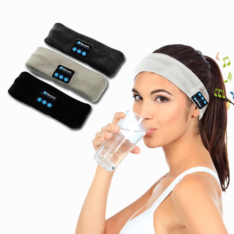 Uyku Bluetooth Kafa Kulaklık Kablosuz Kulaklık Sport HD Stereo Kulaklık Kulaklık Akıllı müzik Eşarp Yoga Uyku için Gym Spor Koşu