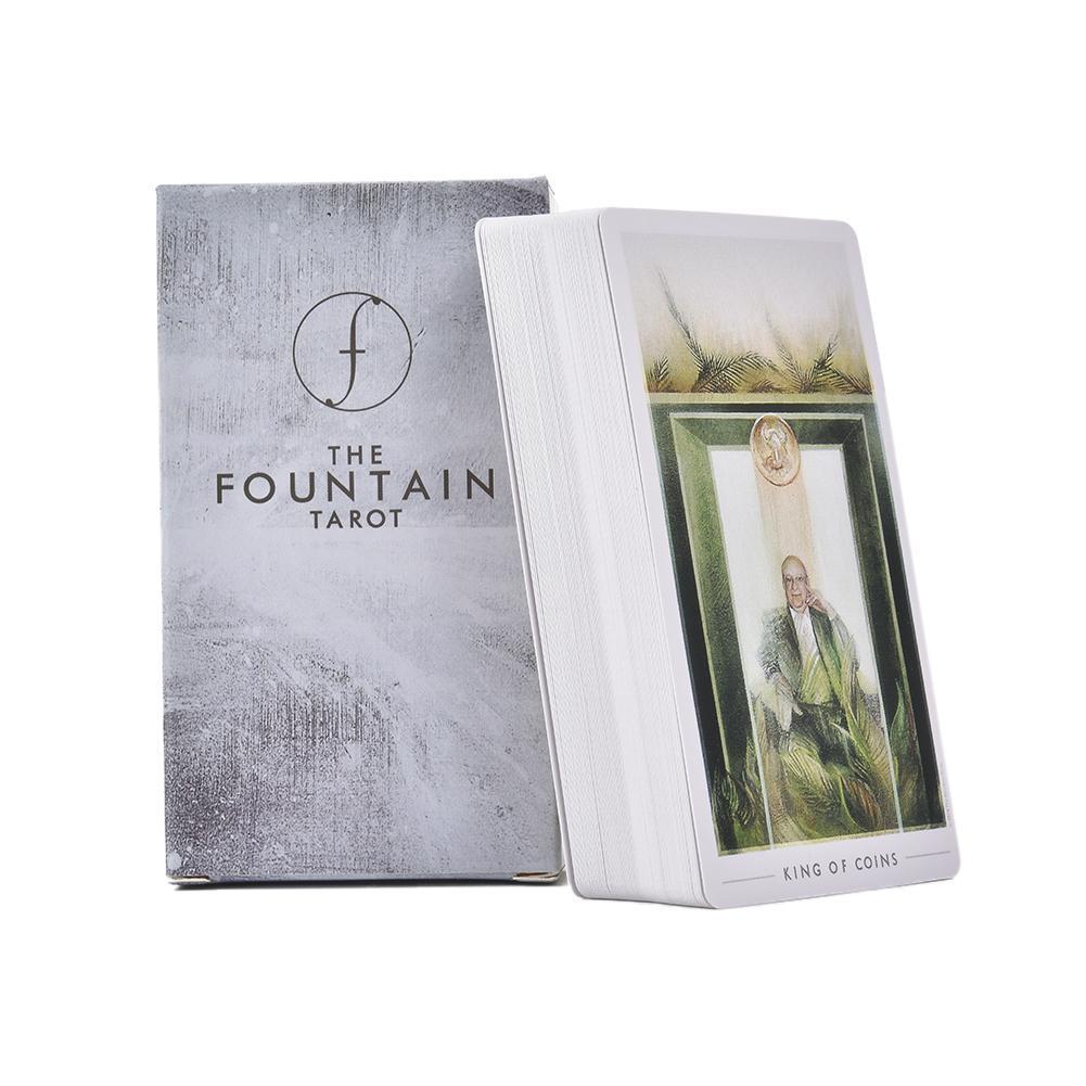 79pcs The Fountain Tarot Inglês Ilustração Cartões E Guides Guia Board Game Cartão do partido Família Para yxllwC xhlove