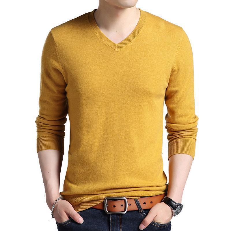 HUMIÈME HOMME MAISON MAISON SLIME FLAS FLAS FLUS Solide 100% laine Pulls décontractés Hommes ASE Pull Shirt 3XL F6501