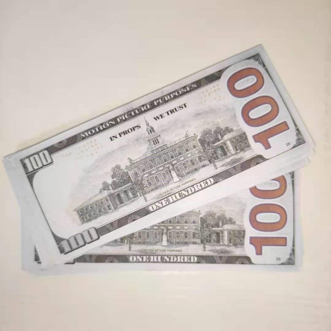 Copier une fausse mousse Atmosphère pistolet 100 Billets d'argent-7 Papier Copie Barre de copie en gros USD argent Dollars de papier réaliste Nightclub DHRXW