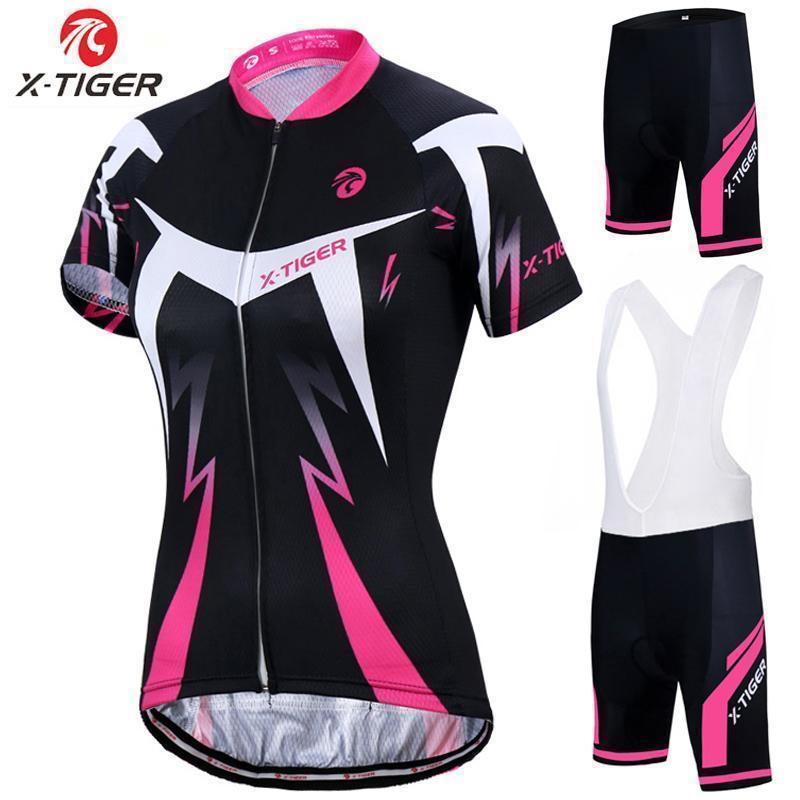 2020 X -Tiger été Femmes Vêtements Vélo VTT Vélo respirant Mountian Vêtements de vélo Ropa Ciclismo rapide -Dry Cyclisme Jersey Ensembles