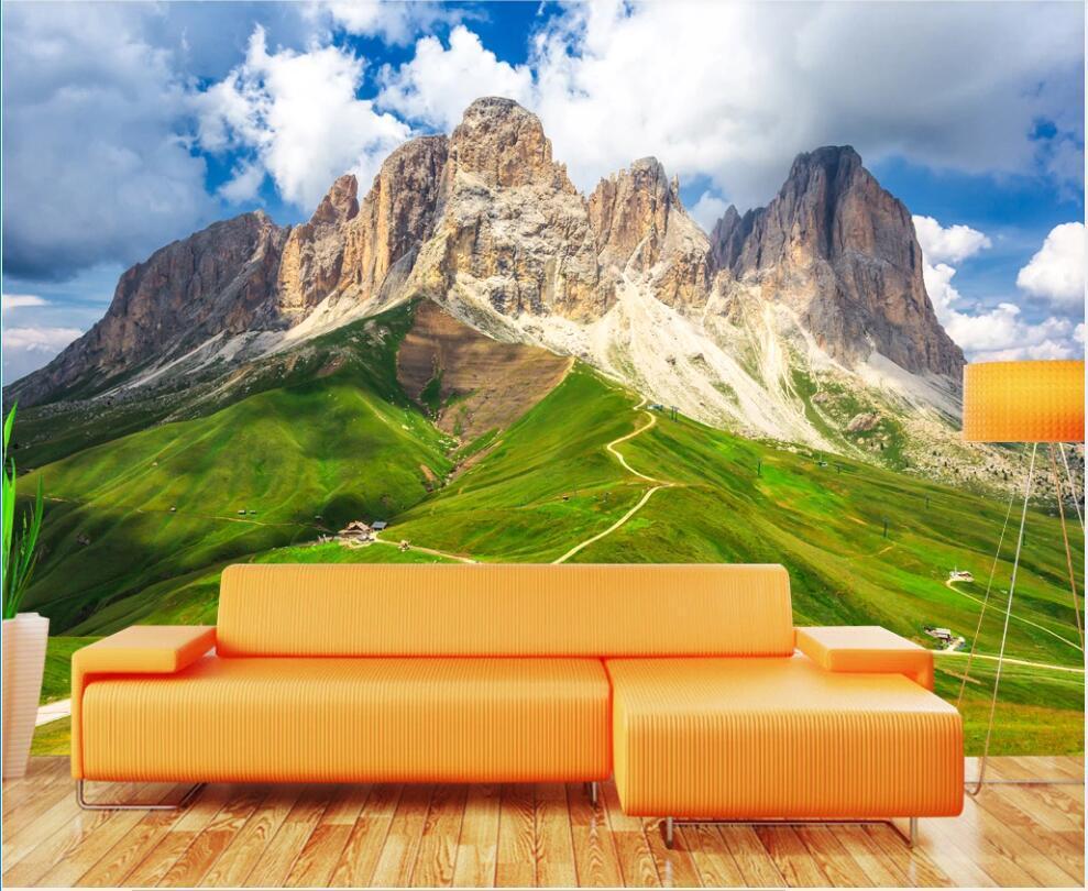 3D papel de parede personalizado foto mural na parede atmosférica montanha pico de casa decoração sala de estar 3d parede papel de parede para paredes 3 d