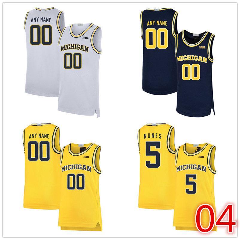 2020 تخصيص NCAA ميشيغان ولفرينس كرة السلة 24 البائعين ريد 23 المهدي حمادة 22 داميان فورست جيرسي أي عدد اسم S-5XL