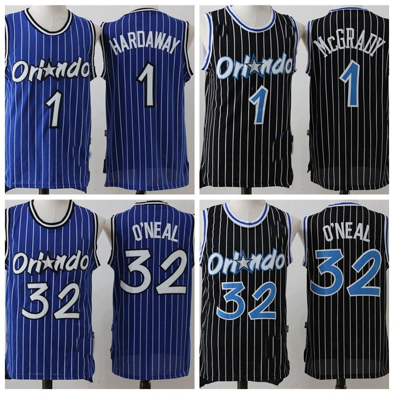 Männer Orlando.WeisenJersey Shaquille 32 O'Neal Penny 1 Hardaway Tracy 1 McGrady Basketball Shorts Basketball-Trikots 822