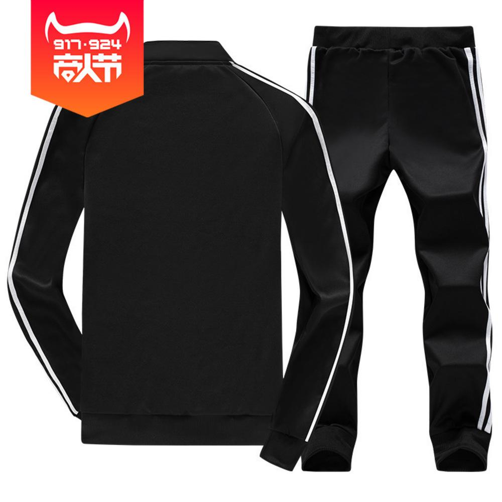 Herbst und Winter Stehender Kragen Langarm Pullover Casual Slim Fit Running Sportswear Herrenhose Koreanische Version Zweiteiler Anzug
