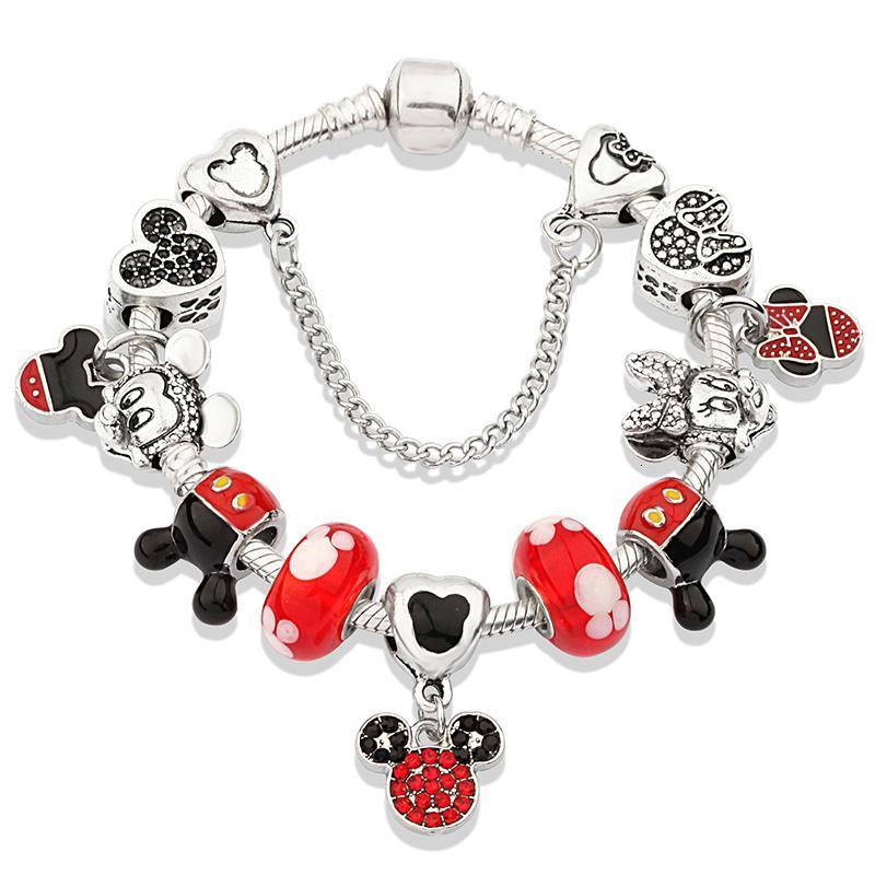 2021 мультяшным стилем очарование браслеты со змеиной цепи стеклянные когти браслеты браслеты для женщин детские рождественские украшения яд