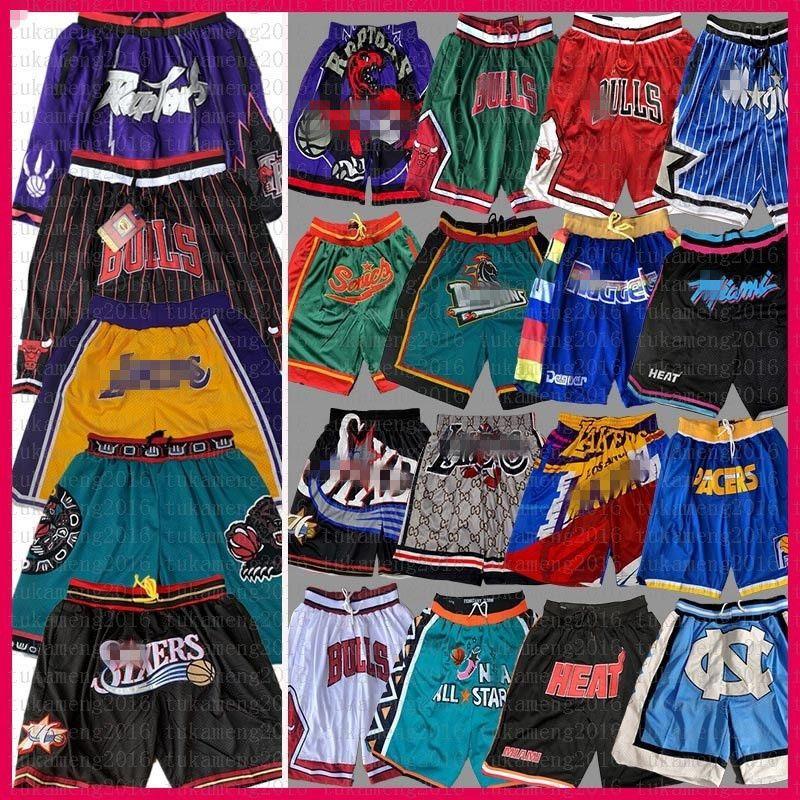 Toronto Raptors Chicago Los Angeles BullsLakersBuck Basketball Shorts Gerade Memphis Grizzlies DON Orlando 76ers Magie Hitze Pacers