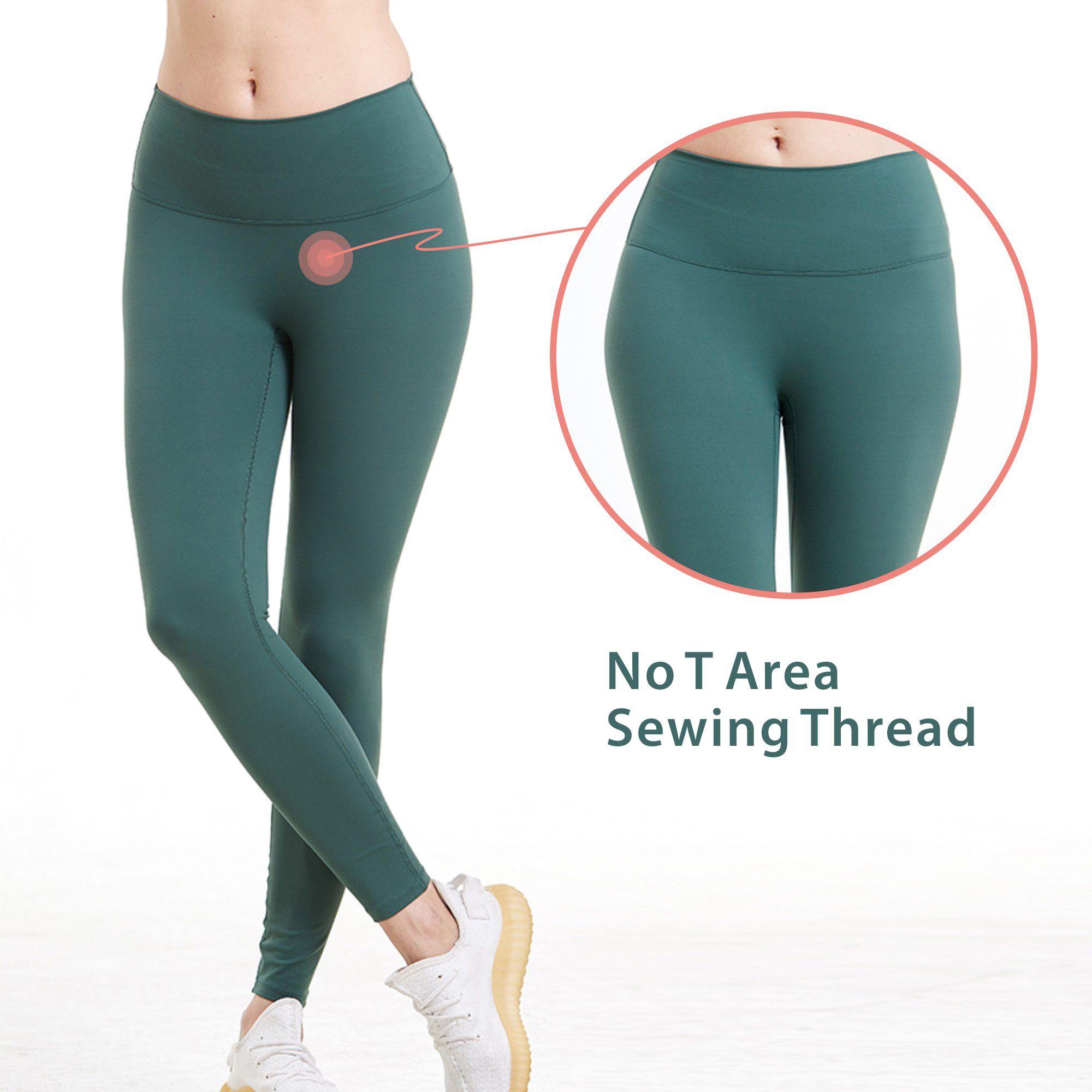 Высокая талия обнаженные чувства йога брюки толщины спорт женщины фитнес бегущий энергией бесшовные леггинсы тренажерный зал девушки брюки