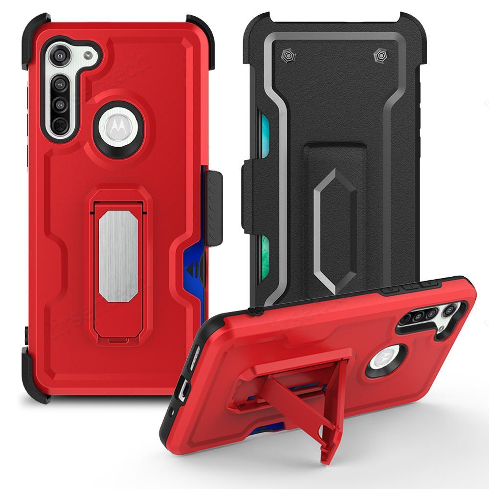 3 en 1 PROTECTORES DE CINTUROS PROTECTORES TELÉFONOS MÓVILES Casos Titular de la tarjeta Soporte de soporte magnético Funda de dedo TPU PC Tapa trasera para iPhone Samung LG