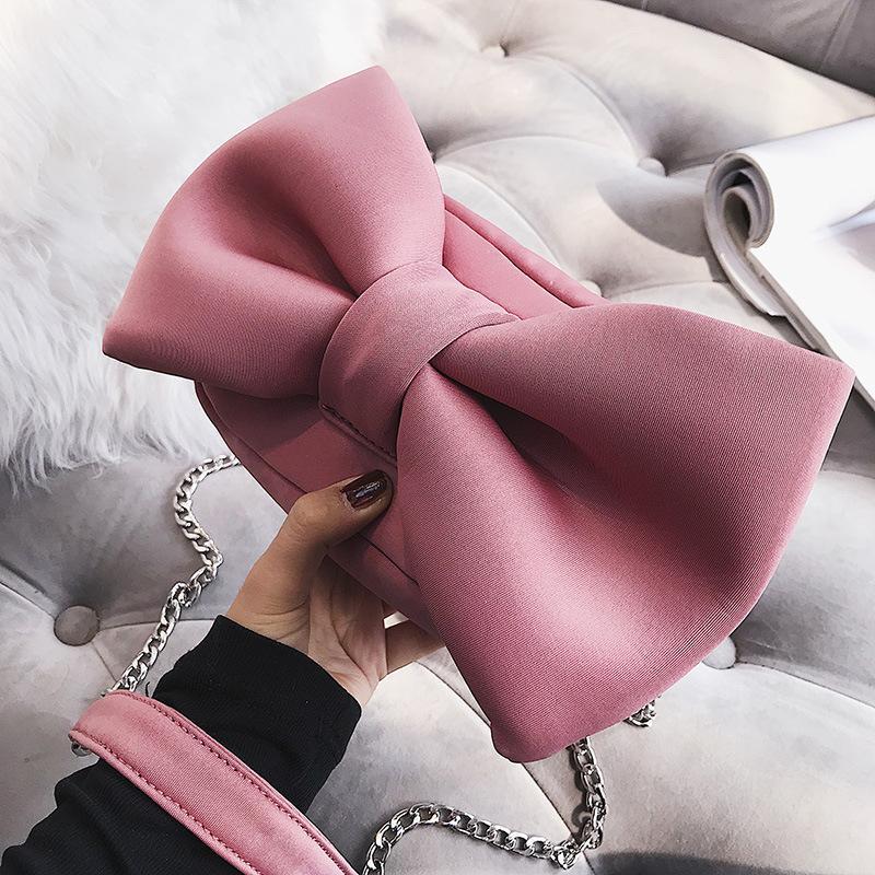 arco lindo mujeres bolsas shoudler bolsa de mensajero del diseñador bolsa de dulces cadenas crossbdoy Funny Lady monederos pequeño colgajo harajuku femenina 2020 C1016