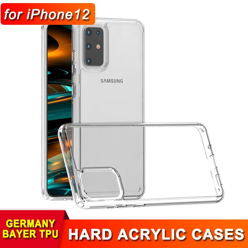 iPhone 12 미니 프로 최대 1.5mm 2 삼성 주 1 투명 케이스 20 울트라 플러스 S20 11 안티 드롭 아크릴 TPU 백 커버 케이스