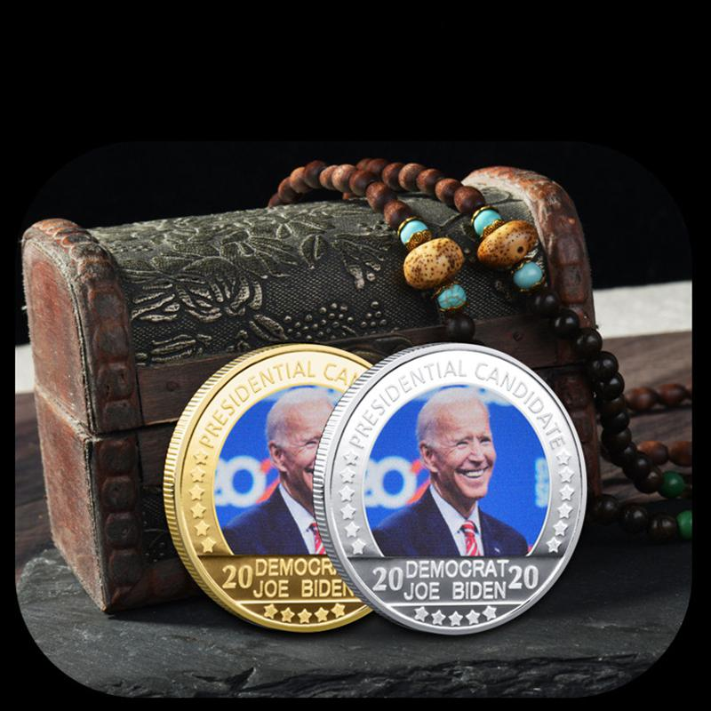 BIDEN GOLD SILIER BLICK COINE Collectibles USA Präsidenten Challenge Handwerk Münzen Gedenkmünzen Medaille Geschenke Party Favors VTKY2231