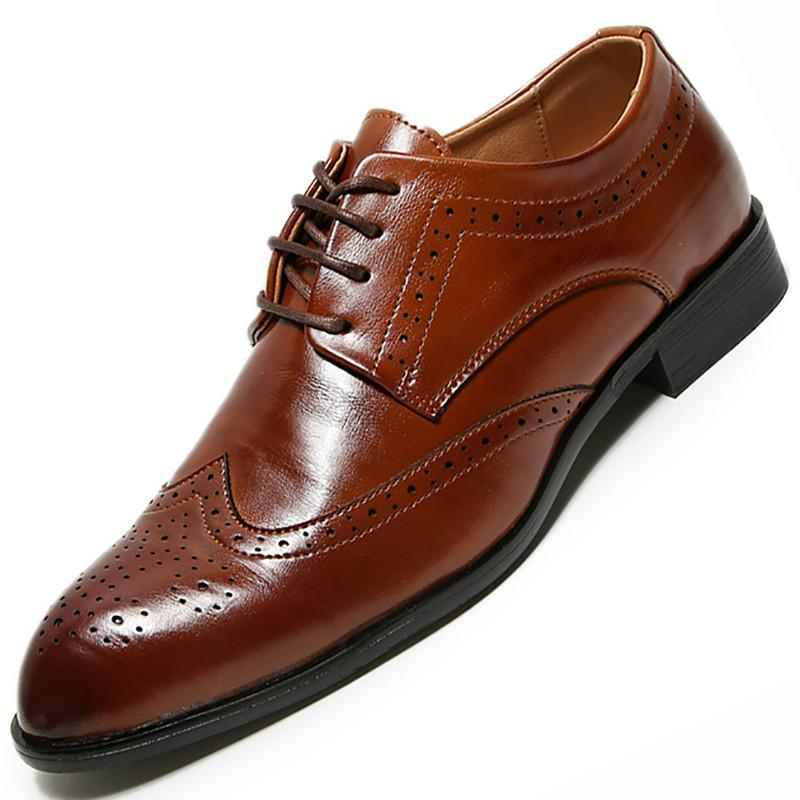 Dress Shoes 2021 Uomo Oxfords Uomo Pelle Maschi Formali Festa di nozze formale per Business Retro Brogue